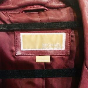 Michael Kors Jackets & Coats - Michael Kors burgundy leather jacket